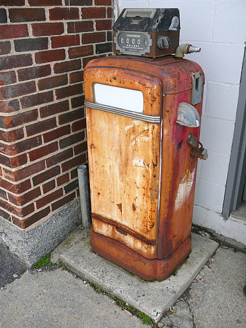close up former gasoline pump 2